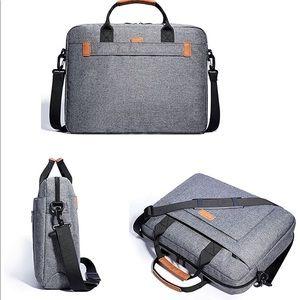 "Accessories - 17"" Gray Briefcase/ Laptop Bag"